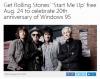 「Windows 95」が発売20周年に 米国では「Start Me Up」24時間無料ダウンロード