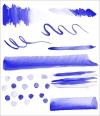 水彩の美しく繊細で大胆なストロークで描ける!プロ仕様のPhotoshop用ブラシ -Watercolor Stamp Brushes